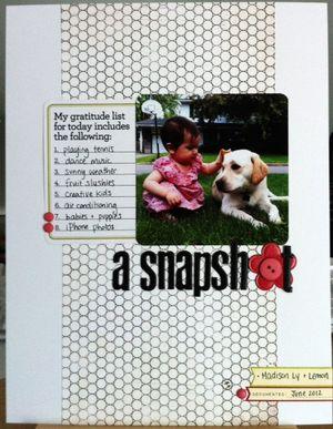 Snapshot layout